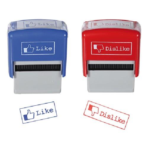 Like- und Dislike-Stempel - 2er Set