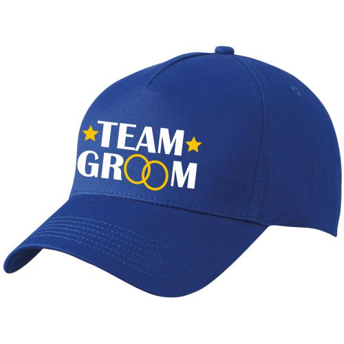 Cap TEAM GROOM Blau-Weiß