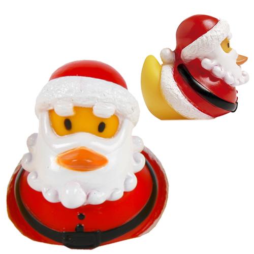 Mini Quietscheente Weihnachtsmann