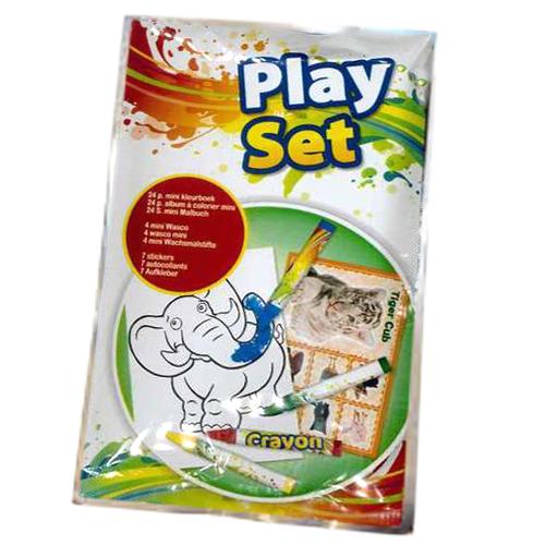 Play Set Mini-Malbuch mit Wachsmalstiften