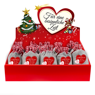 Filz-Ich liebe Dich weil<br><br>inkl. Adventsbox Love