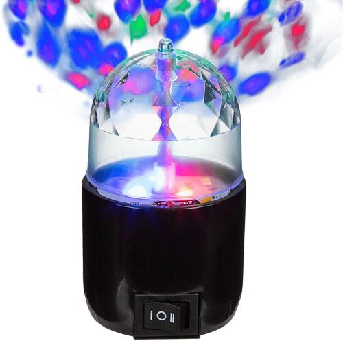 Rotierende Partyleuchte mit 3-farbigen LED