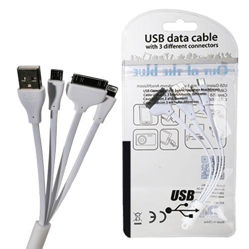 USB-Datenkabel mit 3 verschiedenen Anschlüssen