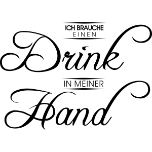 Drink in der Hand