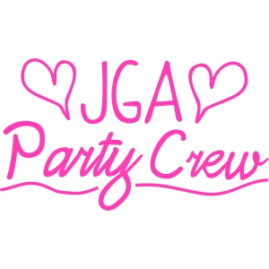 JGA Party Crew handwritten
