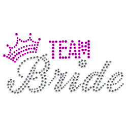Strass Team Bride with crown